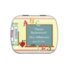 Teacher Retirement Party Favor Candy Tin at Zazzle