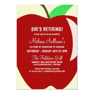 "Teacher Retirement Party Invitation 5"" X 7"" Invitation Card"
