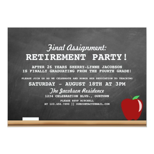 Teacher Retirement Party Invitation  Zazzle