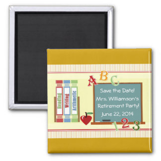 Teacher Retirement Party Save the Date Magnet