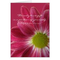 Teacher retirement, pink flower card