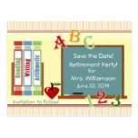 Teacher Retirement Save the Date Postcard