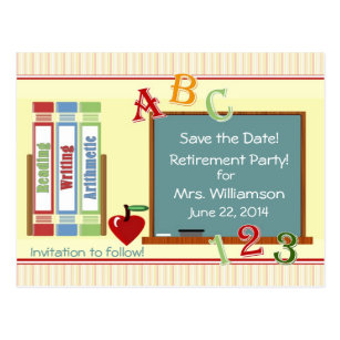 save the date retirement party template