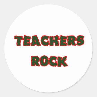 Teacher rock 1 classic round sticker