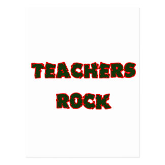 Teacher rock 1 postcard