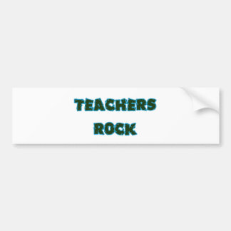 Teacher rock blue bumper sticker