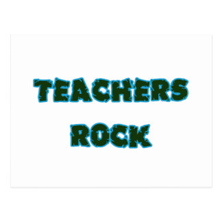 Teacher rock blue postcard
