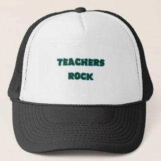 Teacher rock blue trucker hat