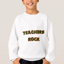 Teacher rock orange sweatshirt