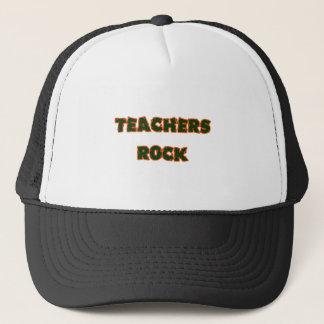 Teacher rock orange trucker hat