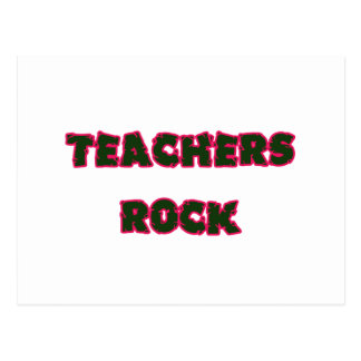 Teacher rock pink postcard