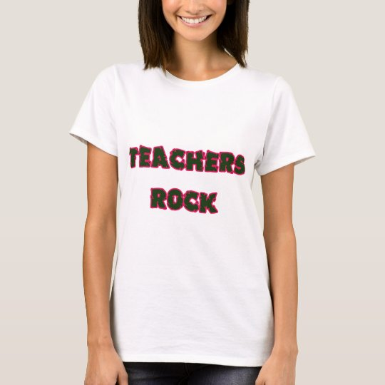 Teacher rock pink T-Shirt