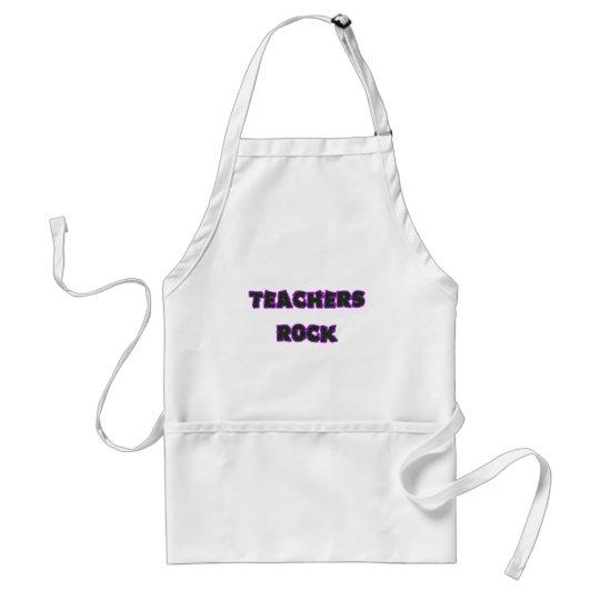 Teacher rock purple adult apron