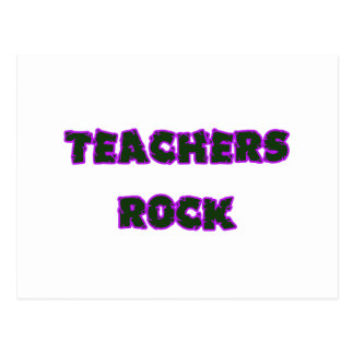 Teacher rock purple postcard