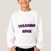 Teacher rock purple sweatshirt