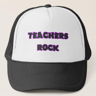 Teacher rock purple trucker hat