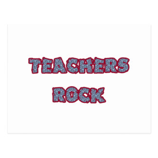 Teacher rock rock postcard