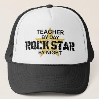 Teacher Rock Star by Night Trucker Hat
