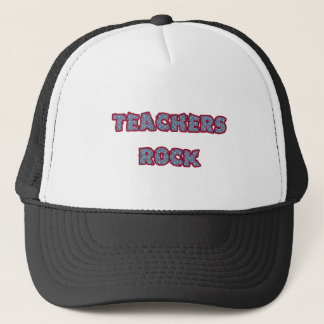 Teacher rock trucker hat