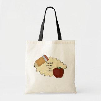Teacher Scare (Customizable) Canvas Bags