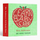 Teacher School Classroom Apple | Learn Baby | Name Binder