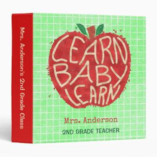 Teacher School Classroom Apple   Learn Baby   Name Binder