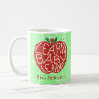 Teacher School Classroom Apple | Learn Baby | Name Coffee Mug