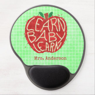 Teacher School Classroom Apple | Learn Baby | Name Gel Mouse Pad