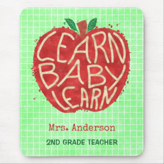 Teacher School Classroom Apple | Learn Baby | Name Mouse Pad
