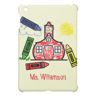 Teacher - Schoolhouse Crayon Drawing Case For The iPad Mini