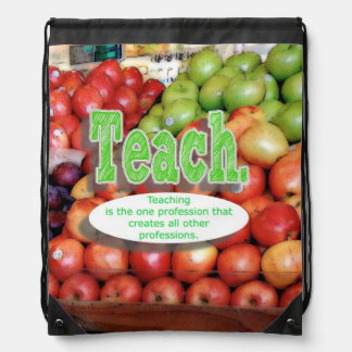 Teacher sentiment drawstring bag