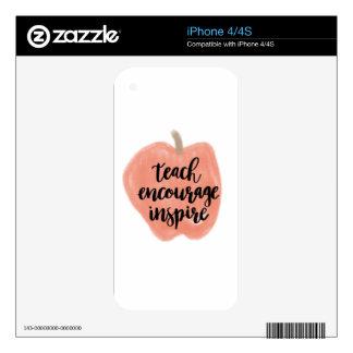 TEACHER shirt, gift, accessories iPhone 4S Decal