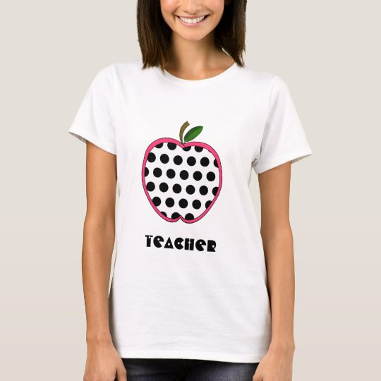 Teacher Shirt - Polka Dot Apple