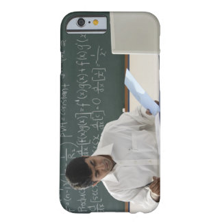 teacher sitting at desk, working barely there iPhone 6 case