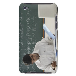 teacher sitting at desk, working barely there iPod case