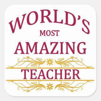 Teacher Square Sticker