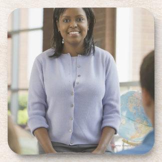 Teacher standing in classroom 2 coaster