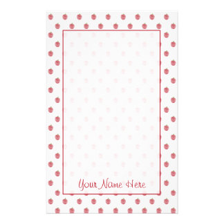 Teacher Stationery - Red Apple Pattern