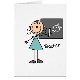 Teacher Stick Figure Card