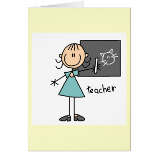 Teacher Stick Figure Card