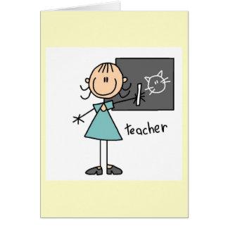 Teacher Stick Figure Cards