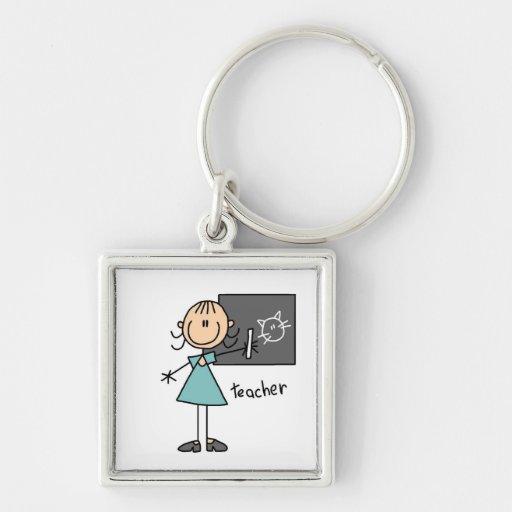 Teacher Stick Figure Key Chains