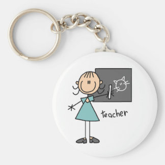 Teacher Stick Figure Key Chain