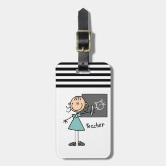 Teacher Stick Figure Luggage Tag