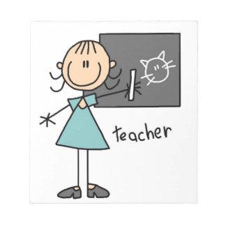 Teacher Stick Figure Notepad