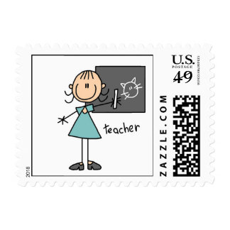 Teacher Stick Figure Postage