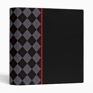 Teacher Student Argyle Scrapbook Binder