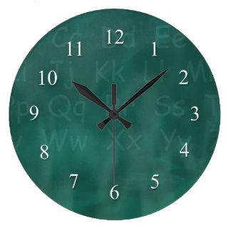 Teacher Student Blackboard Large Clock