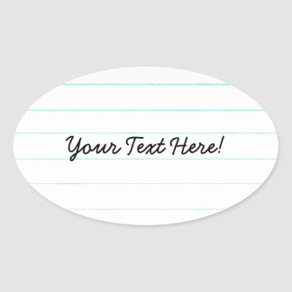 Teacher Student Notebook Paper Oval Sticker