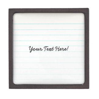 Teacher Student Notebook Paper Premium Keepsake Boxes